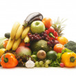 Stock Photo: Pile of fresh and tasty fruits and vegetables