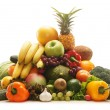 Pile of fresh and tasty fruits and vegetables — 图库照片