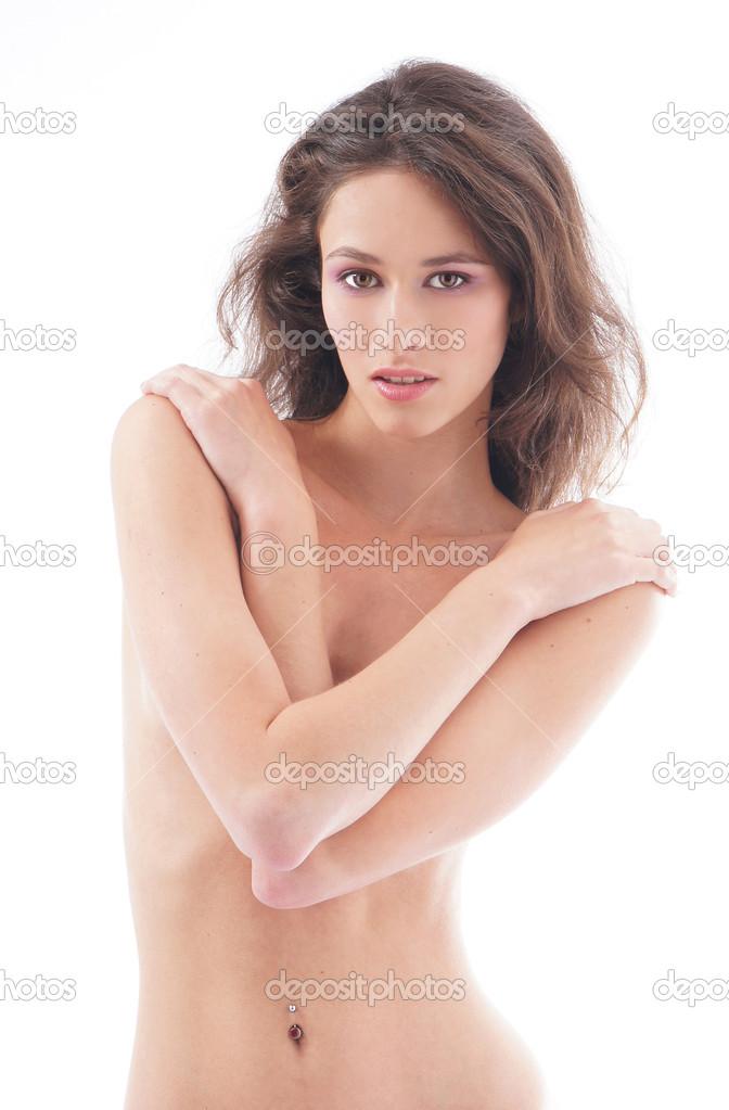 Nackt Brünette