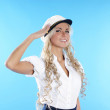 Sexy female sailor isolated over white background — Stock Photo #15518243