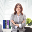 Business woman in office — Stock Photo #15519689