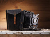 Ancient photo camera — Stock Photo