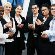 Foto Stock: International business team