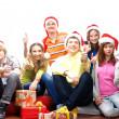 Teenagers celebrate christmas — Stock Photo #15522355