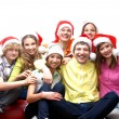Teenagers celebrate christmas — Stock Photo #15522443