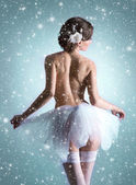 Young beautiful ballet dancer — Photo