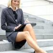 Young attractive business woman — Stok fotoğraf #15602647