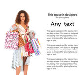 Attraktiv kvinna gör shopping — Stockfoto
