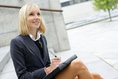 Attractive business woman — Stock Photo