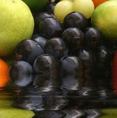 Set of grapes and fruits — Stock Photo