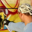 Stock Photo: Graffity painter
