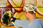 Graffity painter — Stock Photo
