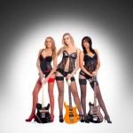 Sexy female music band — Stock Photo #15653545