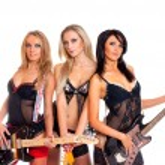 Sexy female music band — Stock Photo #15653631