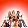 Royalty-Free Stock Photo: Sexy female music band