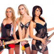 Female rock band — Stock Photo #15653717