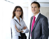 Business couple — Stock Photo