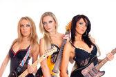 Female rock band — Stock Photo
