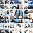 Great collage made of about 250 different business photos — Stock Photo
