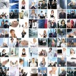 Great collage made of about 250 different business photos — Foto Stock