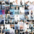 Great collage made of about 250 different business photos — Stok fotoğraf