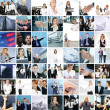 图库照片: Great collage made of about 250 different business photos