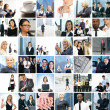 Stock Photo: Great collage made of about 250 different business photos