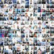 Great collage made of about 250 different business photos - Стоковая фотография