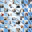 Great business collage made of 225 different pictures and abstract elements. — 图库照片
