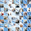 Great business collage made of 225 different pictures and abstract elements. — Stock Photo