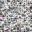 A large business collage with many persons - Stock Photo
