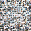 Stockfoto: Large business collage with many persons