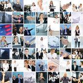 μεγάλο κολάζ από περίπου 250 διαφορετικές επιχειρηματικές φωτογραφίες — Φωτογραφία Αρχείου