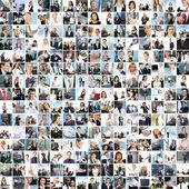 多くの人と大きなビジネス コラージュ — ストック写真