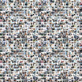 Uma colagem de grandes negócios com muitas pessoas — Foto Stock