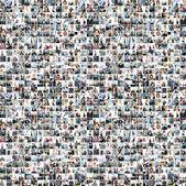 Un collage de grandes entreprises avec de nombreuses personnes — Photo