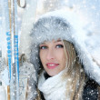 Attractive woman with ski — Stock Photo #15762919