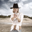 Western Girl - Stock Photo