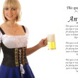 Attractive bavarian woman — Stock Photo #15804535