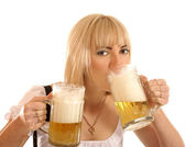 Attractive bavarian woman — Stock Photo