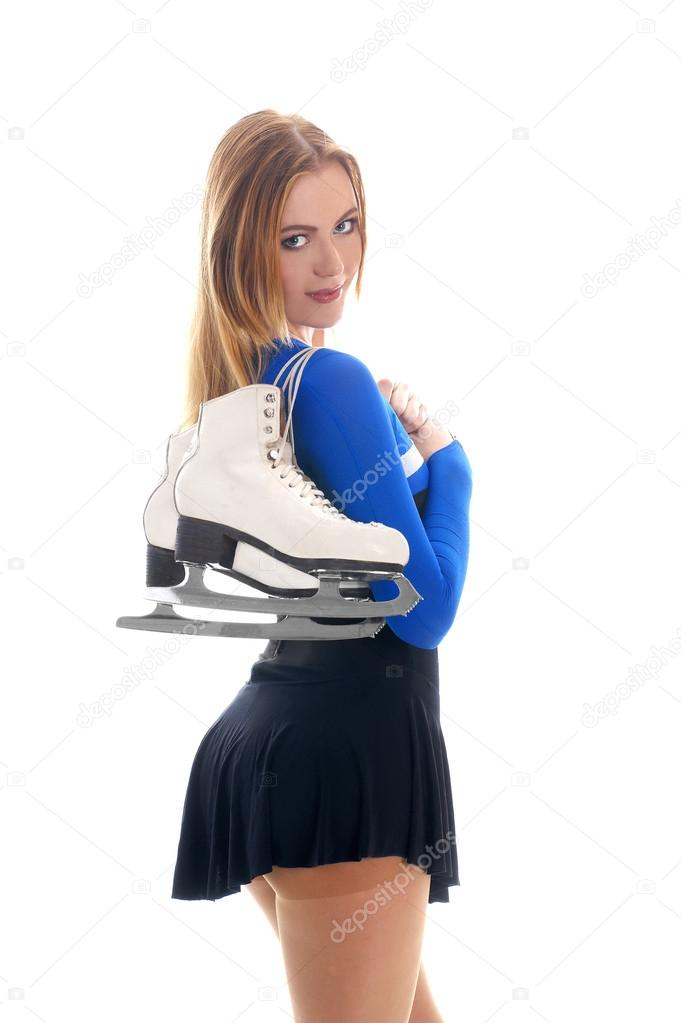 Sexy Ice Skating Woman — Foto Stock #15804681