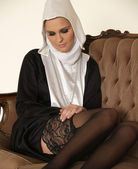 Sexy nun — Stock Photo