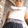 Стоковое фото: Attractive retro styled young blond