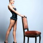mode skjuta ung sexig kvinna i fina underkläder — Stockfoto