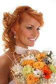 Sexy redhead bride — Stock Photo