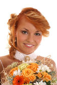 Sexy redhead bride — Stock Photo