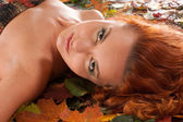 Attractive redhead — Stock Photo