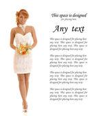 Sexy bride — Stock Photo