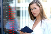 Young attractive businesswoman — Stock Photo