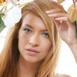 Spring portrait of young attractive girl — Stock Photo #15870105